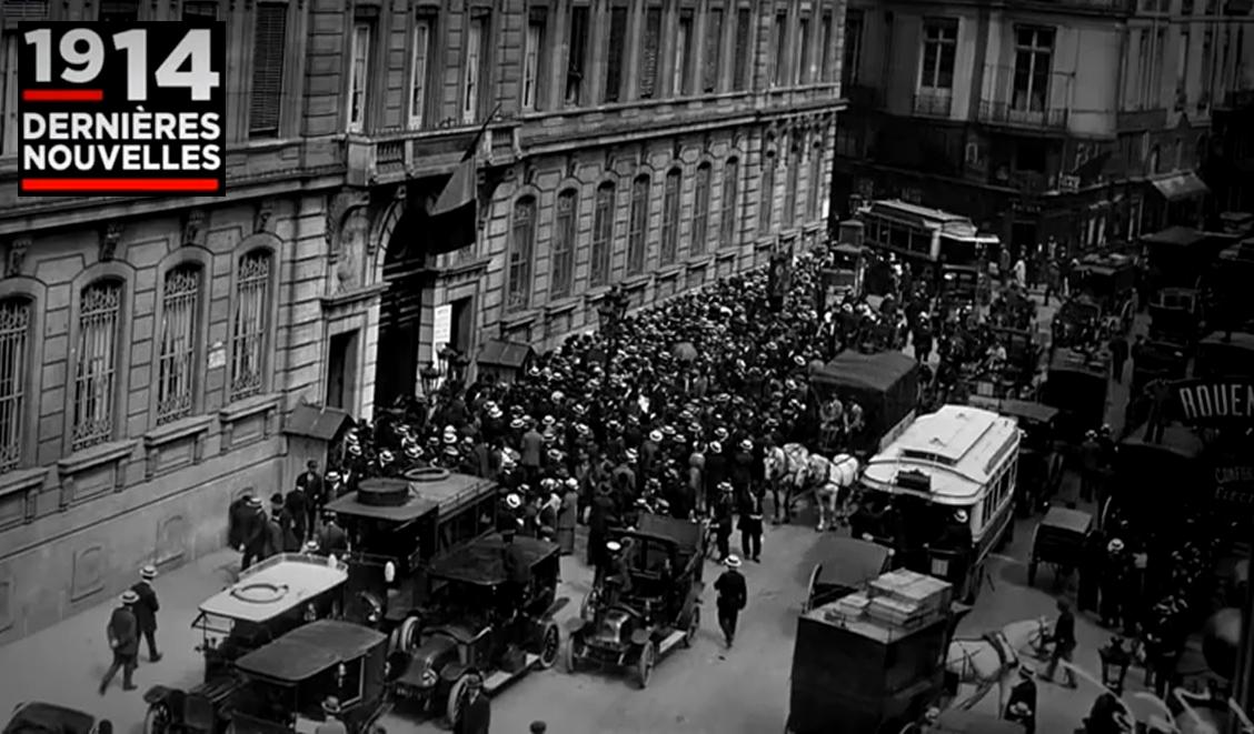 """Visuel extrait du webdoc """"1914, dernières nouvelles"""""""