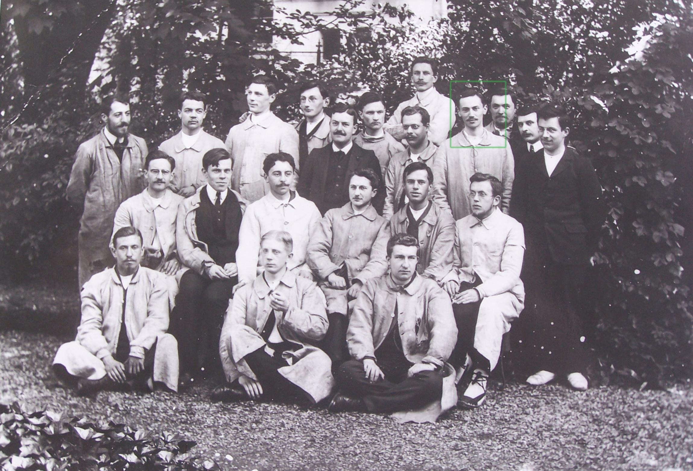 René Gateaux  au cours de l'année 1907, à l'ENS