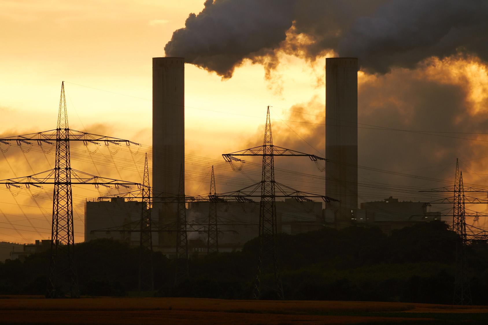 centrale à charbon en Allemagne.