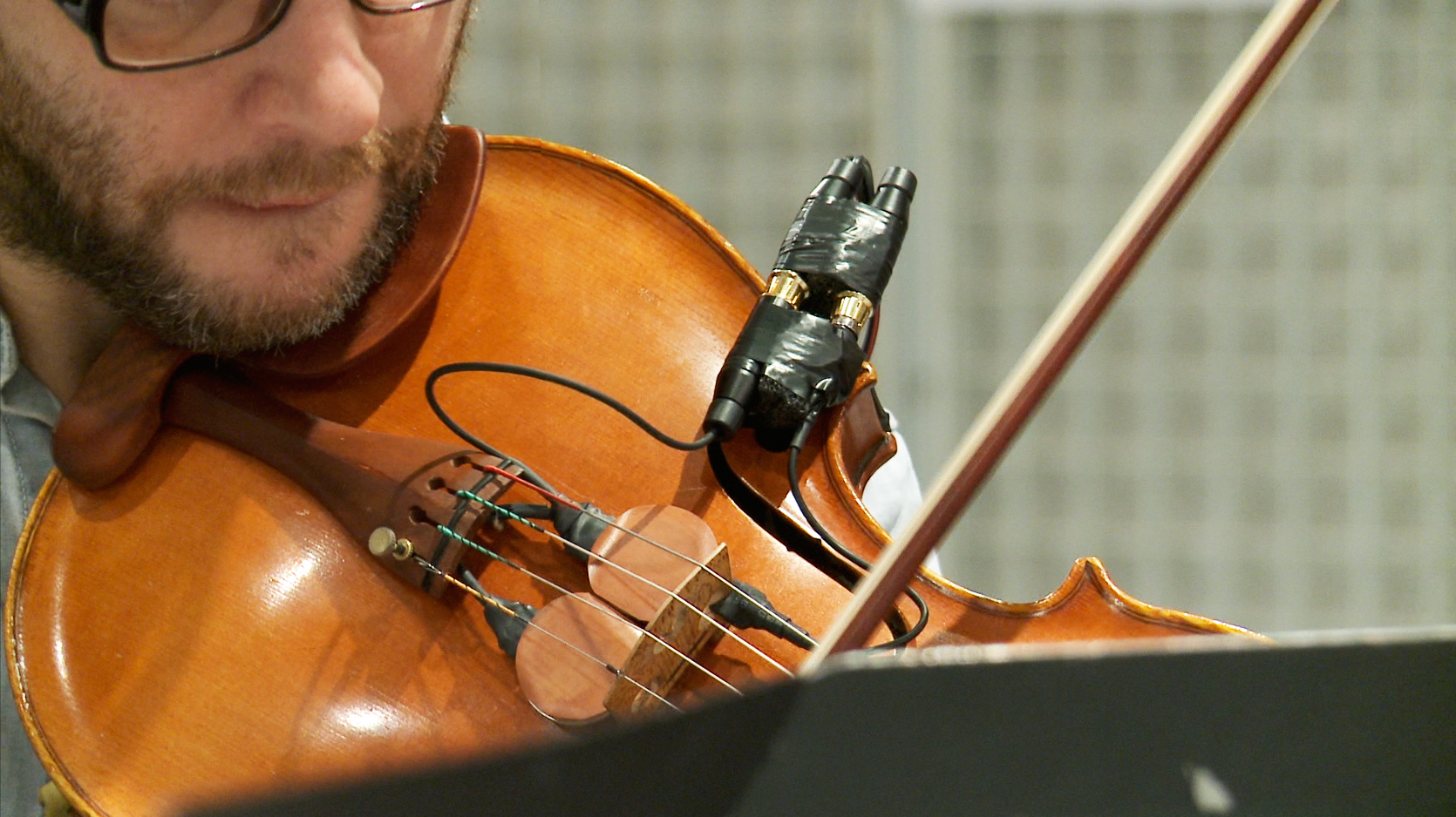 violon équipé de capteurs
