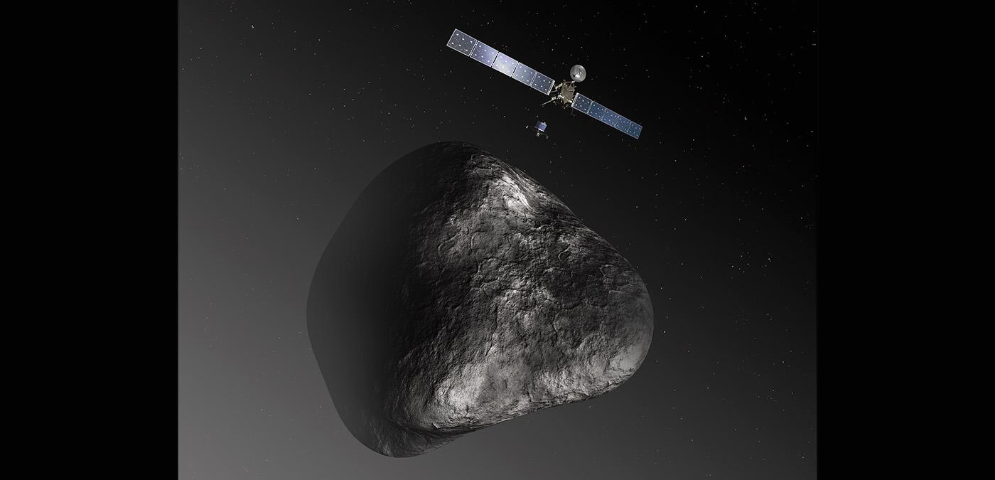 Vue d'artiste de la sonde Rosetta