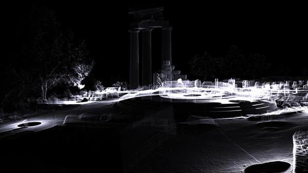 Image 3D du site de la tholos de Delphes