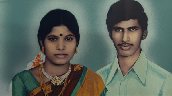 photo couleur d'un couple d'Indiens