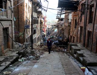 Séisme au Népal en 2015.