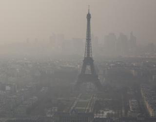 Pic de pollution à Paris en 2014.