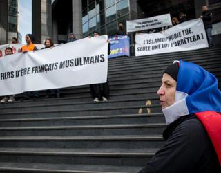 Marche contre l'islamophobie à Bastille.
