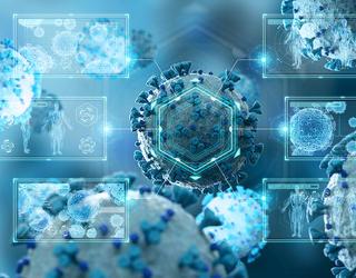Vue d'artiste de coronavirus