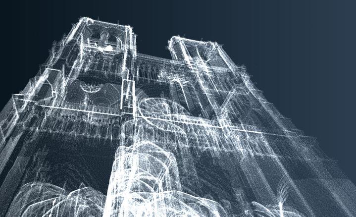 modélisation en 3D de la cathédrale Notre-Dame de Paris