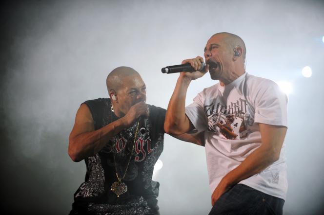 Joey Starr et Kool Shen, du groupe de rap français NTM