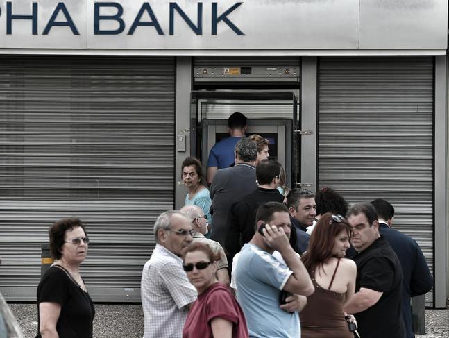 Crise financière en Grèce.
