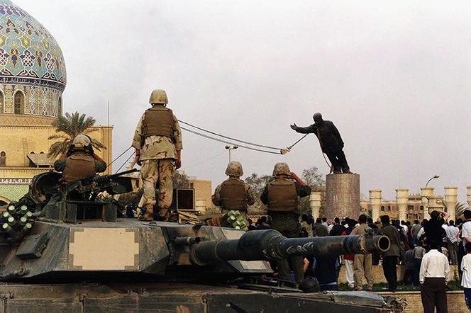 Irak, statue Saddam Hussein