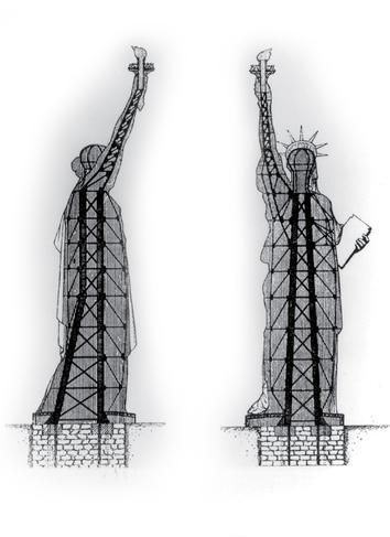 Croquis de la statue de la Liberté.