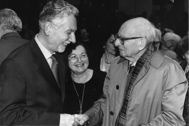 Philippe Descola aux cotés de Françoise Héritier et Claude Lévi-Strauss.
