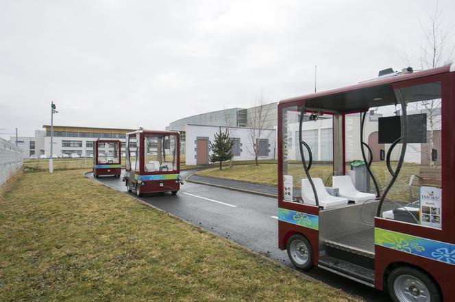 Navettes autonomes circulant sans chauffeur développées à l'Institut Pascal.