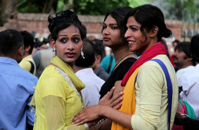 Membres de la communauté Hijras en Inde.