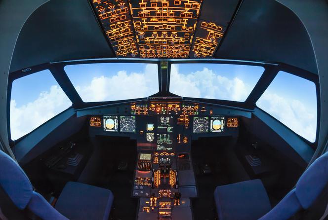 Intérieur du cockpit de l'A320
