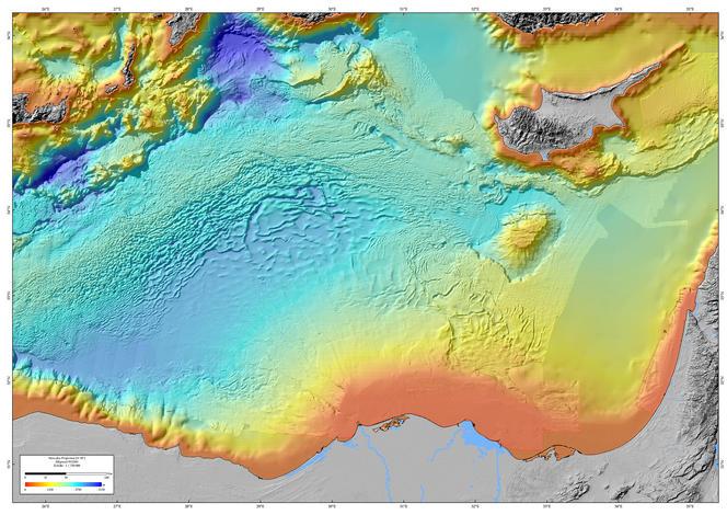Morphobathymetric map