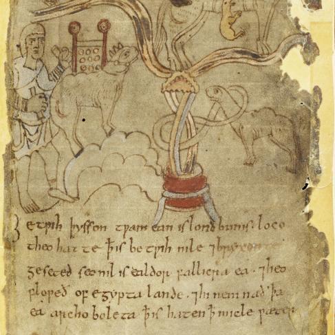 Manuscrit du poème Beowulf