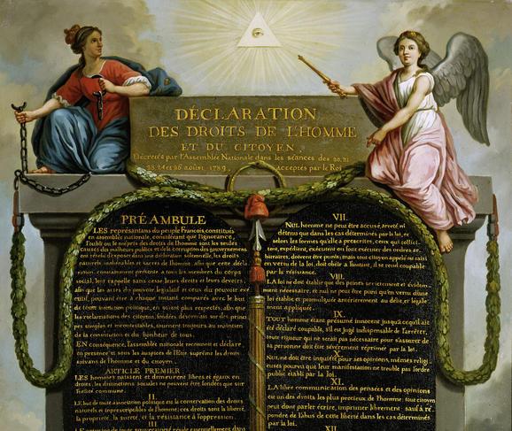 Déclaration des droits de l'homme et du Citoyen.