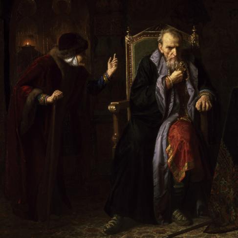 « Le Tsar Ivan le Terrible et sa nourrice », huile sur toile de Karl Gottlieb Wenig, 1886.