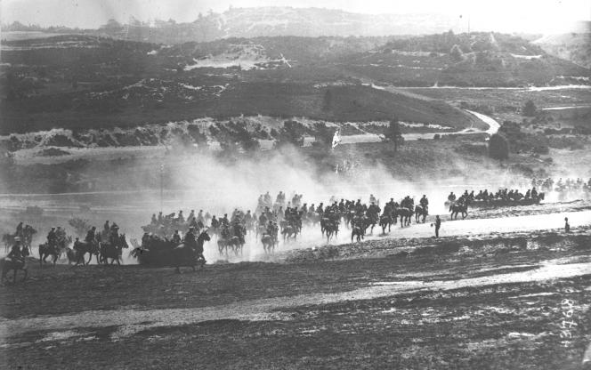Charge de cavalerie durant la Première Guerre mondiale