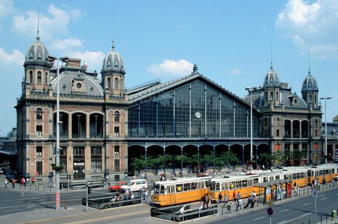 La gare de Budapest en Hongrie