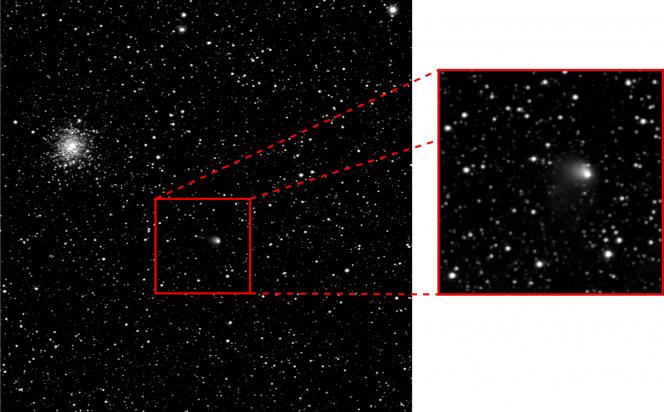 Cliché de la comète 67P/Churyumov–Gerasimenko réalisé par la sonde Rosetta le 30 avril 2014
