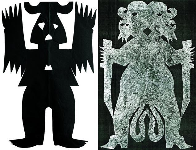 Le Maître de la nuit et le Maître de la brousse, figurines chamaniques