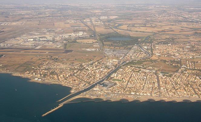 Portus de Rome, vue aérienne