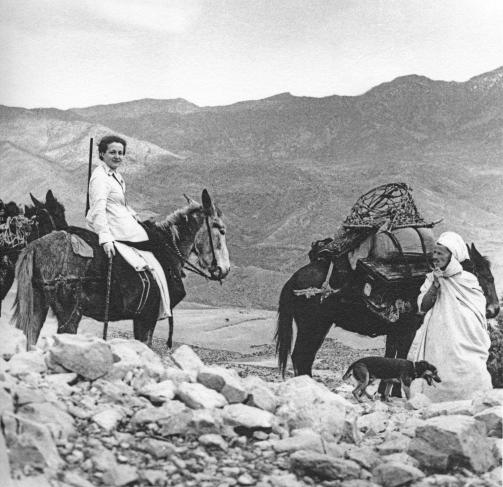Germaine Tillion, photographiée en 1935 en Algérie.
