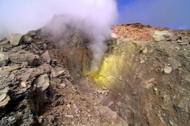 Cratère Sud de La Soufrière en Guadeloupe