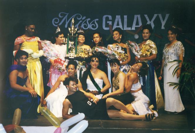 Concours de beauté Miss Galaxy aux îles Tonga en 1997.