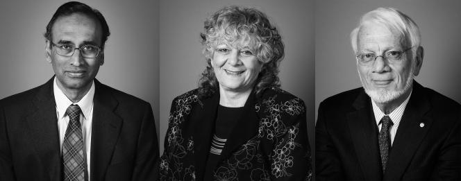 Venkatraman Ramakrishnan, Ada E. Yonath, Thomas A. Steitz, lauréats du prix Nobel de chimie 2009.