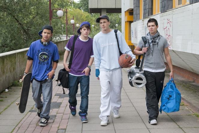 Un groupe d'adolescents