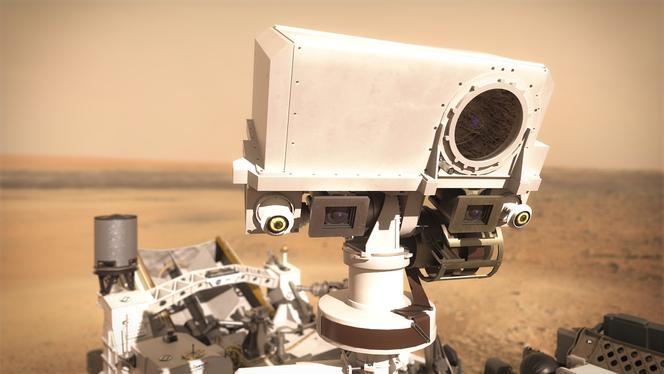 Gros plan sur l'instrument Supercam.