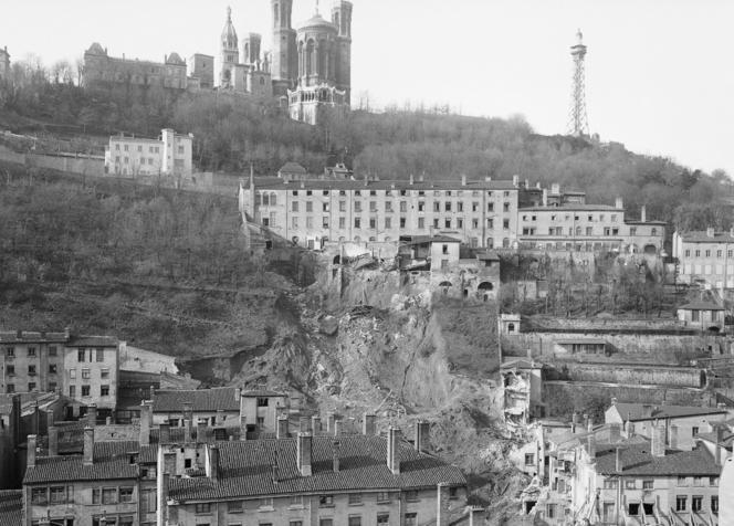 Catastrophe de l'éboulement de la colline de Fourvière. Lyon (Rhône), 13 novembre 1930.