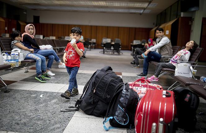 Réfugiés afghans à Berlin. De 2015 à 2017, les deux pays européens qui ont accordé le plus de statuts de réfugiés relativement à la taille de leur population sont la Suède et l'Allemagne.   Kay Nietfeld/DPA via ZUMA Press/REA