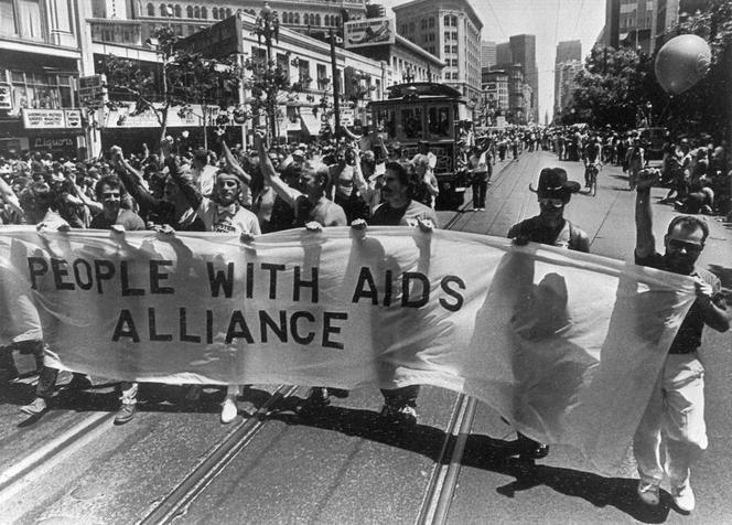 Manifestation Aids Alliance le 26 juin 1983