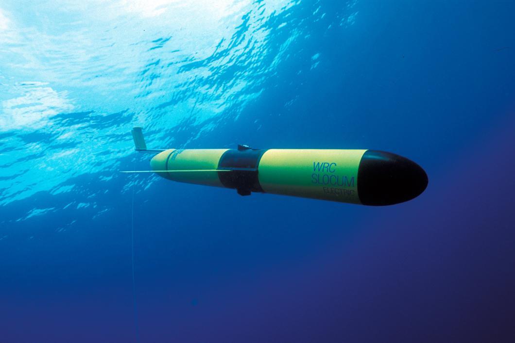 Robot sous-marin Glider capable de mesurer la consommation de dioxyde de carbone du phytoplancton