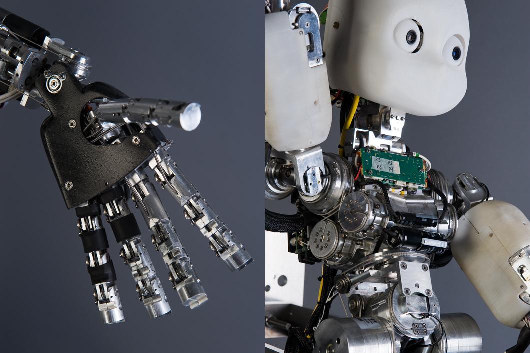 Robot Icub équipé d'une main articulée
