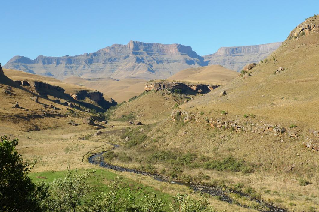 Montagnes uKhahlamba-Drakensberg, parc national de Giant's Castle