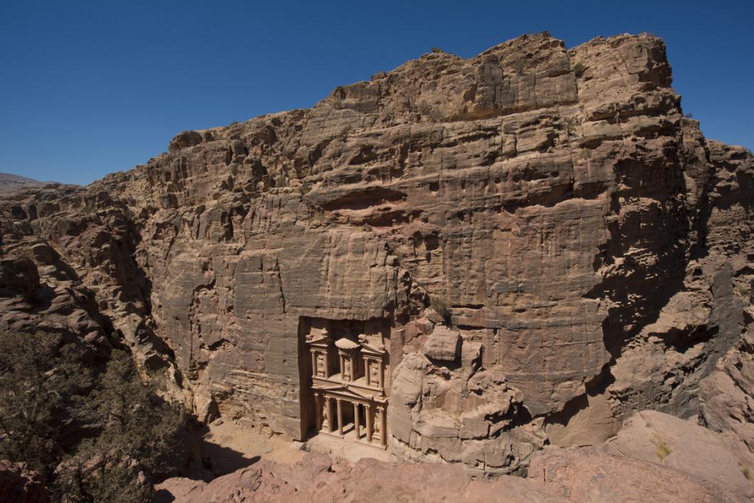 Tombeau de la Khazneh à Pétra