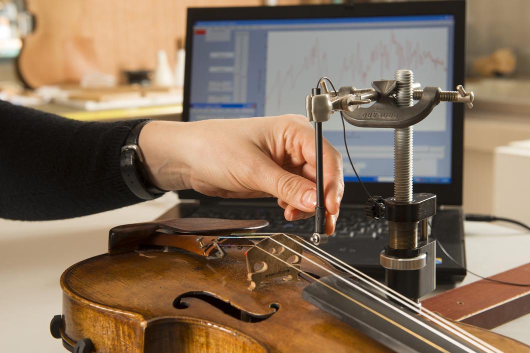 Mesures vibratoires sur un violon