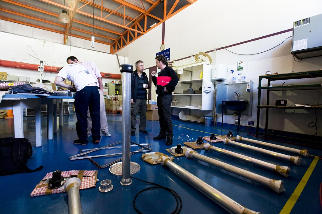 Hall d'assemblage, observatoire Pierre Auger