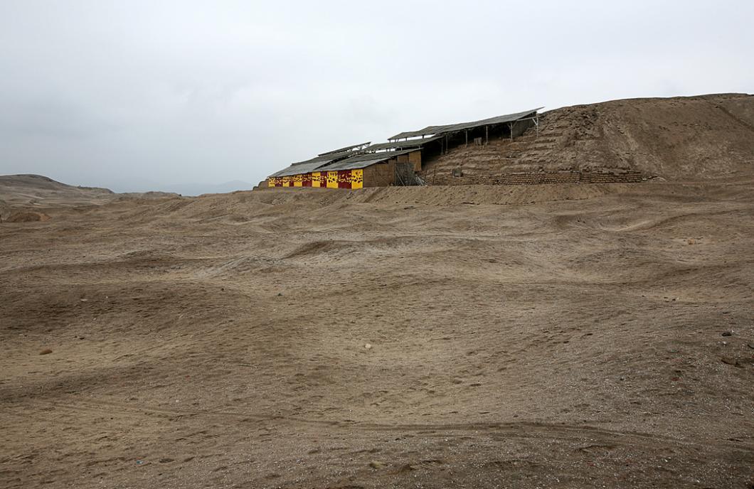 Façade nord du Templo Pintado, au Pérou