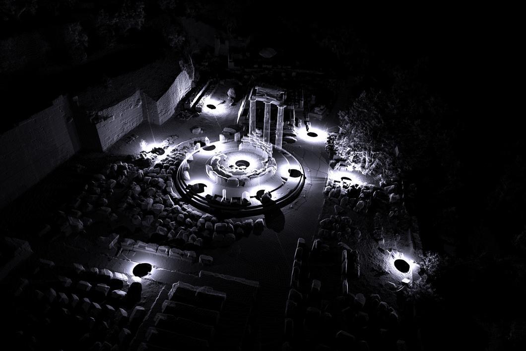 Numérisation en 3D de la Tholos de Delphes