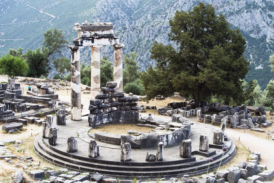 Temple la Tholos de Delphes, en Grèce