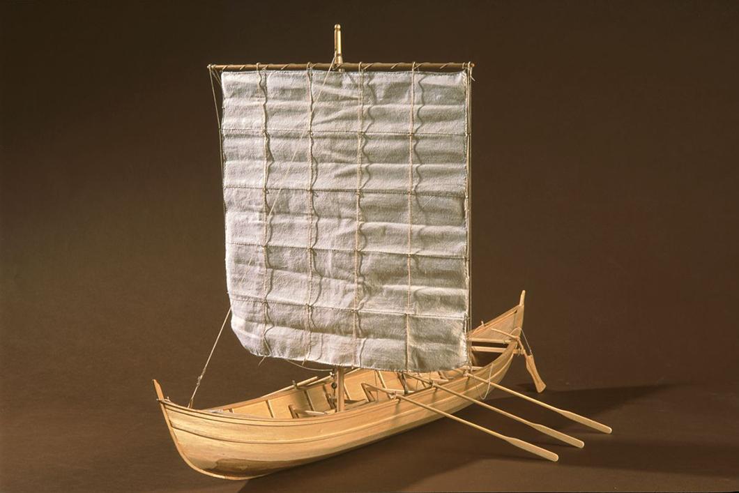 Maquette au 1/10e de l'épave du bateau Gyptis