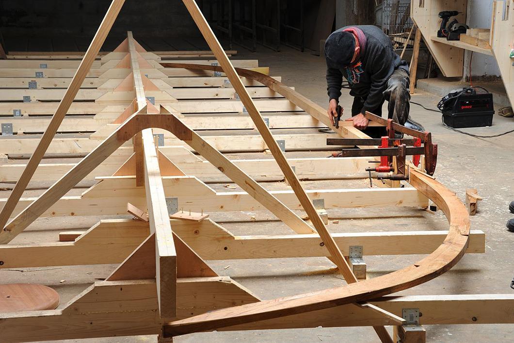 Construction du bateau Gyptis, Chantier naval Borg