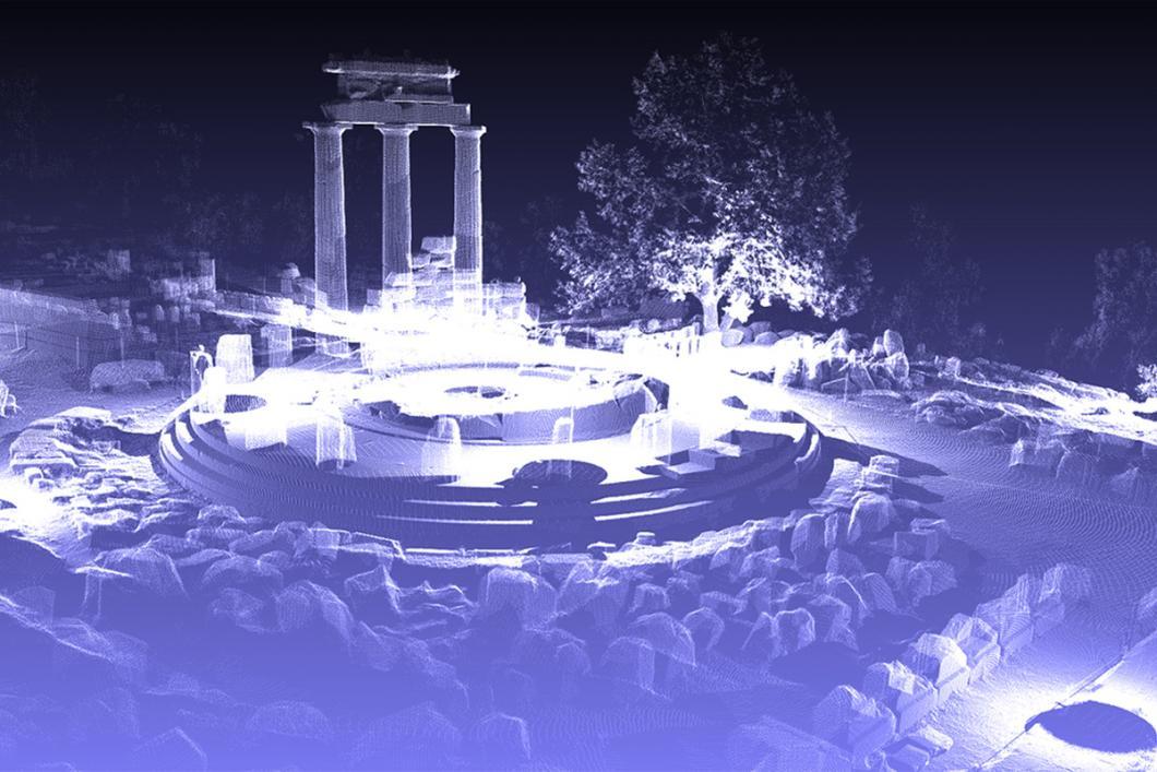 Image en 3D de la Tholos de Delphes